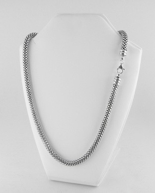 Collier Tube Argent